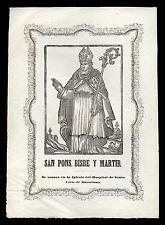 santino stampa popolare 1800 S.PONZIO V.M. DI CIMIEZ