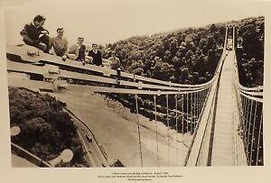 Clifton Suspension Bridge Workforce, August 1986.  Black & White Photograph.