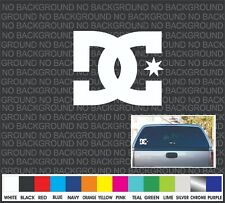 """DC Shoes rear window front car truck bike skateboard vinyl sticker decal  4"""""""