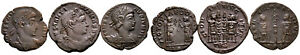 Group of 3 Roman Ae3 Folles #RB 7856