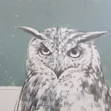original lithographs 'Birds of Prey' by Bryan Organ limited editions x 4 signed