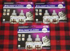 Feliway classic diffuser refills constant calming cat feline 2-pack Lot Of 3