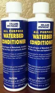 2 Lg. (8 OZ) PREMIUM BLUE MAGIC FIBER ALL PURPOSE WATERBED MATTRESS CONDITIONER/