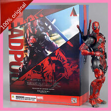 100% Original SQUARE ENIX PLAY ARTS Kai Marvel DEADPOOL Figure New In Box
