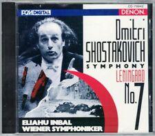 Eliahu INBAL: SHOSTAKOVICH Symphony No.7 Leningrad DENON CD Schostakowitsch