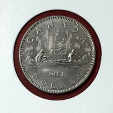1981 Canada Nickel Dollar $1 Circulated Coin