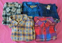NWT FOUNDRY Big & Tall 4XL Pocket Flannel Shirt CHOOSE COLOR