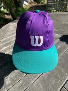 Kids One Size Fits All Baseball Hat Cap W Wilson Mr Pee Wee Tennis Purple Green