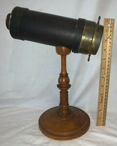 ANTIQUE CHARLES BUSH KALEIDOSCOPE 1873 PATENT SIGNED OPTICAL SCIENCE TOY EARLY