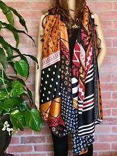 Fashion Hijab Large Logo Print Silky Scarf Stylish New Wrap Luxury Summer Scarf