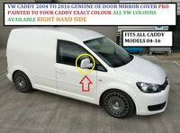 VW CADDY 2004 TO 2016 GENUINE WING MIRROR COVER R/H SIDE ANY VW COLOUR