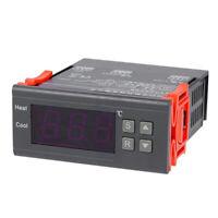 10A 220V Thermometer Qquarium Thermal Regulator Alarm Function Black + Orange