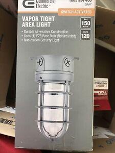 NEW COMMERCIAL ELECTRIC 150-Watt Gray Indoor/Outdoor Area Incandescent Vapor Tig