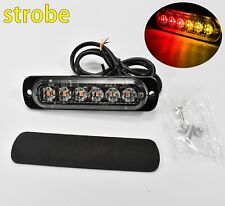 12-24V Truck 6 LED Red Amber Side DRL Strobe Emergency Warning Flash Light JP