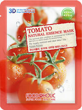 2 X 3D FoodAHolic Superfood  Tomato whitening Natural Essence face Mask