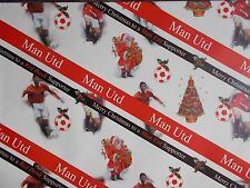 5 Sheets Football Wrapping Paper 70x50cm OFFICIAL MAN UTD Christmas Gift Wrap