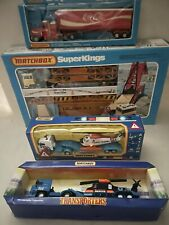 MATCHBOX KING SIZE / EMERGENCY SERIES/ TRANSPORTERS/ Lot of 4 Vehicles