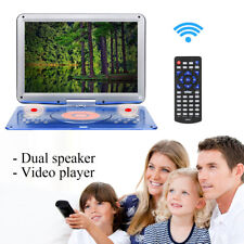 14'' Portable DVD Players Car EVD TV SD Game Remote Control 270° Swivel Screen
