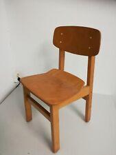 ACTI Lord  Kinderstuhl  geformtes Holz  Frankfurter Stuhl Vintage Midcentury