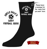 Personalised Lucky football socks DAD daddy UNCLE  ANY NAME Novelty XMAS Gift