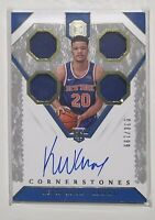 18-19 Kevin Knox Cornerstones Quad Swatch On Card Autograph 36/199 Rookie Card