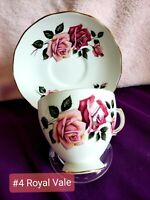 Royal Vale Fine Bone China Teacup And Saucer Set.  Made In England
