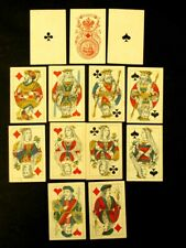 More details for antique russian empire playing cards incomplete deck 13 sheets charity release