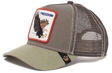 Goorin Animal Farm Trucker Baseball Hat Cap Freedom American Eagle Tan Khaki