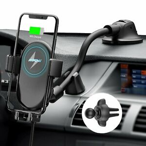 MPOW CA148B Wireless Car Charger Auto-Clamping Mount For iPhone 11 / Galaxy S20