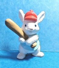 "Hallmark Cute ""Bunny Rabbit Holding A Baseball Bat"" 1990 Spring Merry Miniature"
