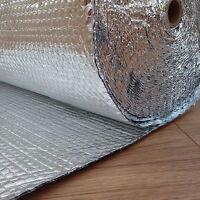 Yuzet 1.2m x 25m Double Layer Foil Bubble Insulation Wrap Loft Wall Shed Caravan