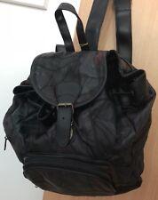 100% ECHTLEDER LUXUS RUCKSACK SCHWARZ Travel Leder Bag ReiseTasche BRANDNEU &OVP