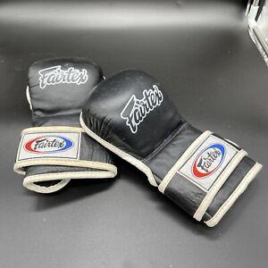 Fairtex Boxing Gloves MMA Thai  Black/White Size XL Free Shipping!
