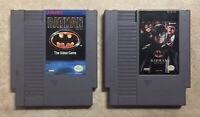 NES Batman & Batman Returns Cartridges Cleaned Tested Cleaned Konami Sunsoft