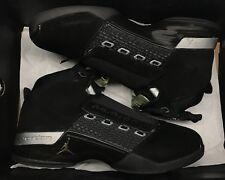 Jordan Retro XVII 17 Black Silver CDP Trophy Room Grey 322721-001 Sz 9