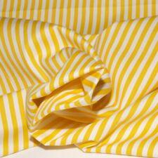 Tessuto cotone per cucito stoffa in cotone righe gialle tessuti cotone H. 150