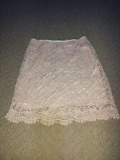 Forever 21 Pink Crochet Skirt Size Small