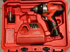 "MILWAUKEE 2455-22 M12 12V 1/4"" Cordless No-Hub Driver Kit,  2 1.5Ah Batteries"