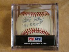 EDDIE STANKY THE BRAT SIGNED AUTOGRAPHED RAWLINGS MLB BALL RARE! DODGERS PSA