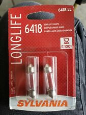 Sylvania 6418 Long Life 13.5 Volt 5W Base Incandescent Mini Clear Light Bulb (2)