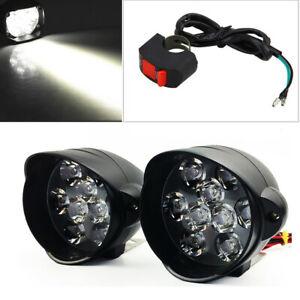 Pair 30W 3000LM Universal Motorcycle ATV Headlight Lamp LED Fog Lights Spotlight