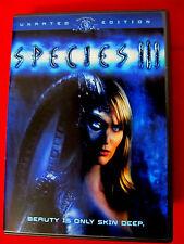 Species III DVD Unrated Mint OOP Natasha Henstridge Sunny Mabrey Robert Knepper