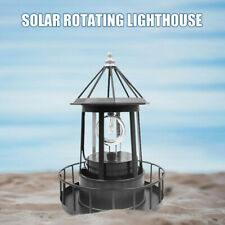 Solar Powered LED Rotating Lighthouse Light Garden Lawn Lamp Outdoor Yard Decor