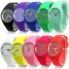 Women Wristwatches Fashion Dial Analog Silicone Quartz Wrist Watch Band 34US