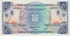 More details for p14a western samoa one pound banknote in mint condition issued in 1963