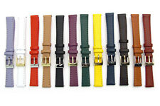 Ladies Smooth Stitched Leather Watch Strap C088 Lots of Colours & Sizes!