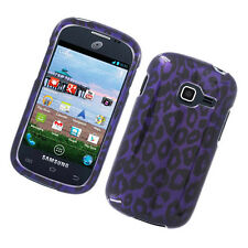 For Samsung Galaxy Centura S738C HARD Case Snap On Phone Cover Purple Leopard