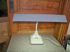 Vintage Industrial Battleship Gray Fluorescent Gooseneck Desk Lamp