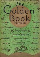 1928 Golden Book June - Edgar Allen Poe; Isaak Walton;Alexander Dumas;John Keats