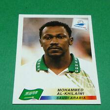N°195 AL-KHILAIWI SAUDI ARABIA PANINI FOOTBALL FRANCE 98 1998 COUPE MONDE WM